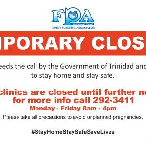 Until further notice our clinics and offices will be temporarily closed