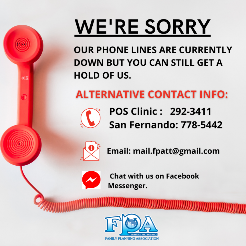 Our phone lines are down.