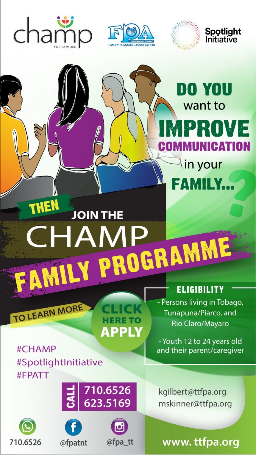 CHAMP is about building greater communication within families.